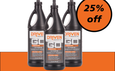 Amazing August Saving – 25% Off Driven 80W-90 GL4 Mineral Gear Oil